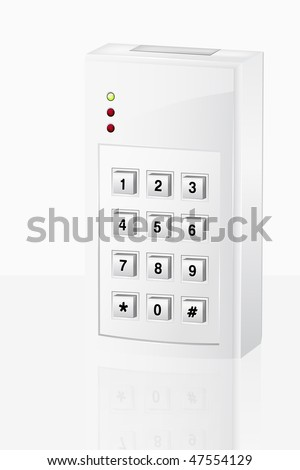 Illustration of electronic security alarm