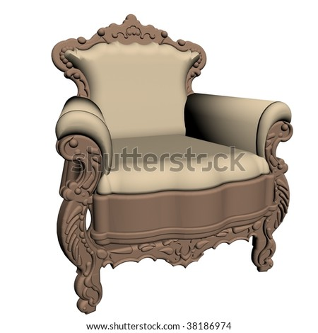 illustration of empirr chair, isolated on white background