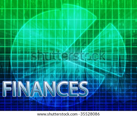 Illustration of financial budgeting finance and business pie chart - stock photo