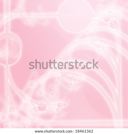 Illustration of floral border frame with swirly designs