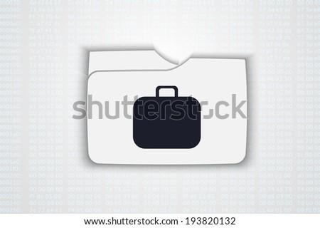illustration of folder with bag - stock photo