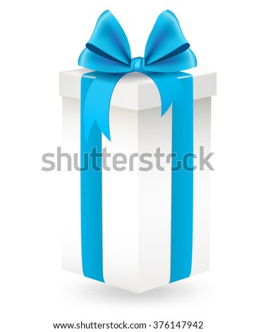 illustration of Gift box with ribbon bow