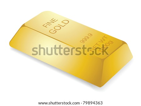 illustration of gold bar, for financial concept.