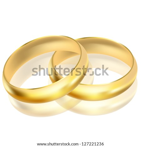 illustration of gold rings - stock photo