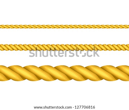 Illustration of gold ropes
