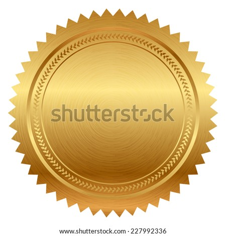 Illustration of gold seal - stock photo