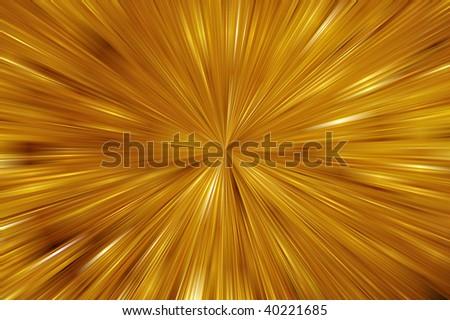 illustration of golden light bursting from center - stock photo