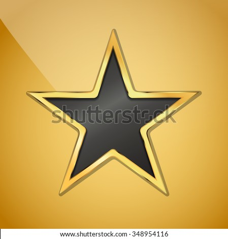 illustration of golden star background. JPG version