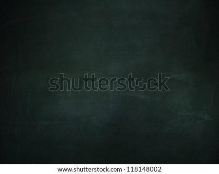 Illustration of grunge chalkboard, blackboard texture of dark green color background. - stock photo