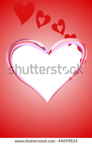 Illustration of heart with blank space for text, ideal for valentines card or related themes. - stock photo