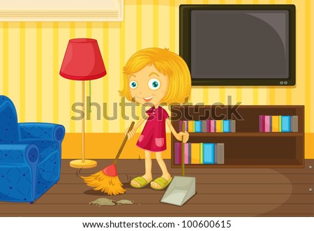 Illustration of helping at home concept - EPS VECTOR format also available in my portfolio.