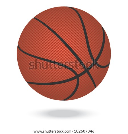 illustration of highly rendered basketballs, isolated in white background. - stock photo