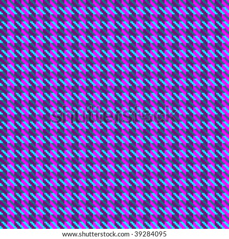 Illustration of hound's tooth check woven tweed fabric with seamless repeat background pattern, in heather mix colors of purple and pink - stock photo