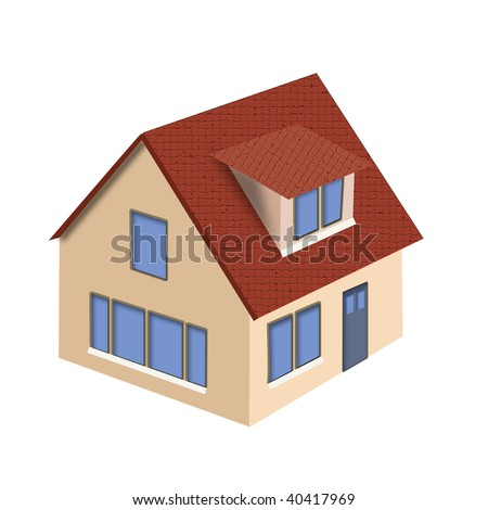 Illustration of house on a white background