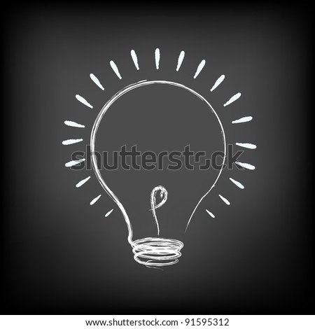 Illustration Of Idea Lamp - stock photo