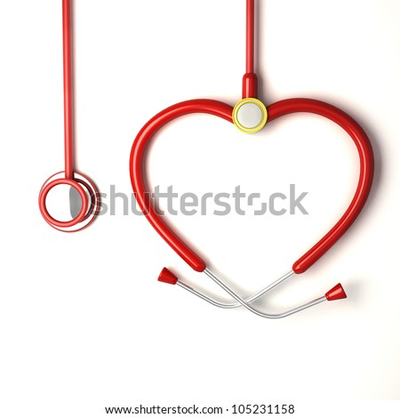 illustration of image of heart shaped stethoscope