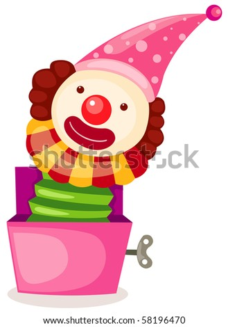 illustration of isolated a box toy on white background - stock photo