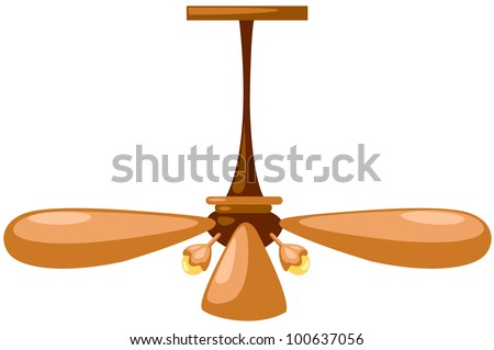 illustration of isolated  a lamp with mounted propeller