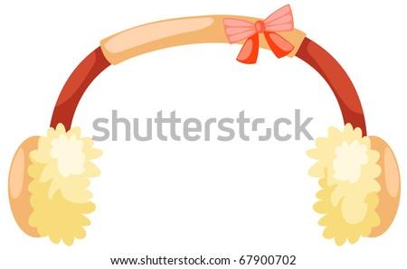 illustration of isolated ear muff on white background - stock photo