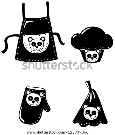 illustration of isolated set clothing cooking.JPG (EPS vector version id 125269049,format also available in my portfolio) - stock photo