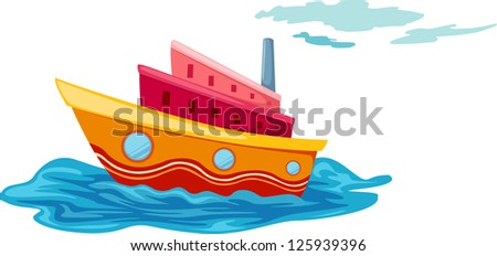illustration of isolated yacht .JPG (EPS vector version id 125256113,format also available in my portfolio)