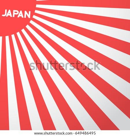 illustration japan flag vector background retro stock illustration, Powerpoint templates