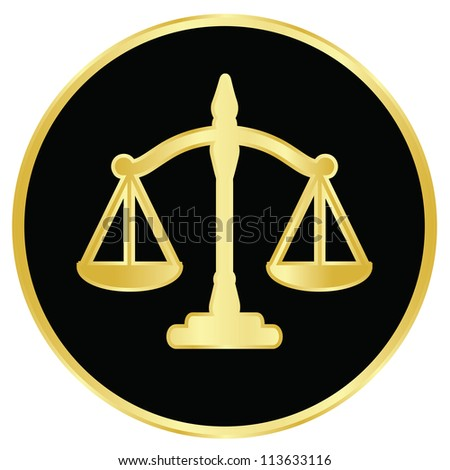 illustration of justice scales - stock photo