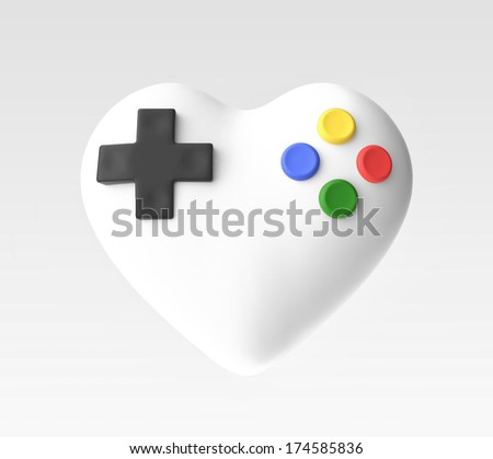 illustration of love for video games