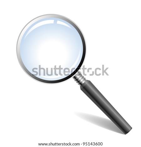 Illustration of magnifying glass - stock photo