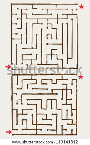Illustration of maze. Raster - stock photo