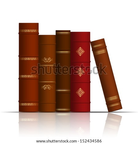 Illustration of old books - stock photo