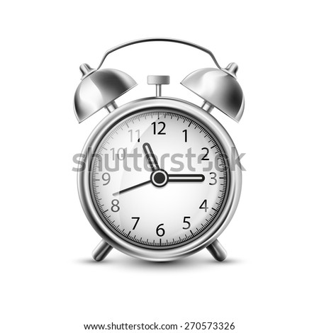 illustration of old clock - stock photo