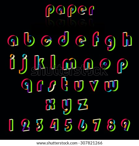 Illustration of paper crafting alphabets.