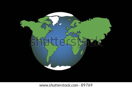 Illustration of Planet Earth - stock photo