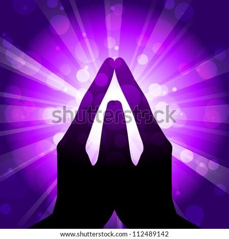 illustration of prayer - stock photo