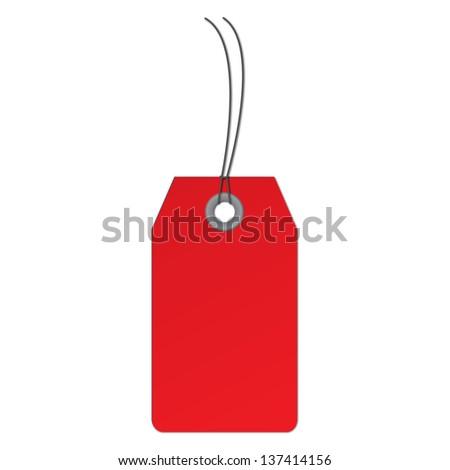 illustration of price tag - stock photo