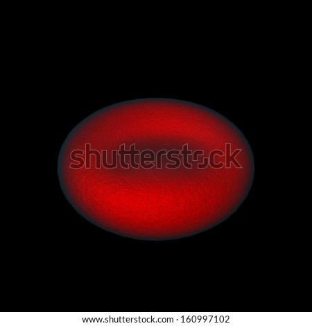 illustration of red blood cells  - stock photo