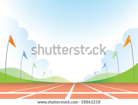 Illustration of running track - stock photo