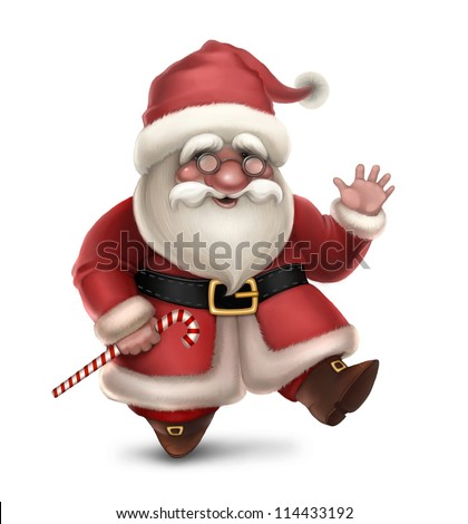 Illustration of Santa Claus - stock photo