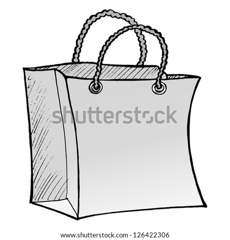 illustration of shopping bag
