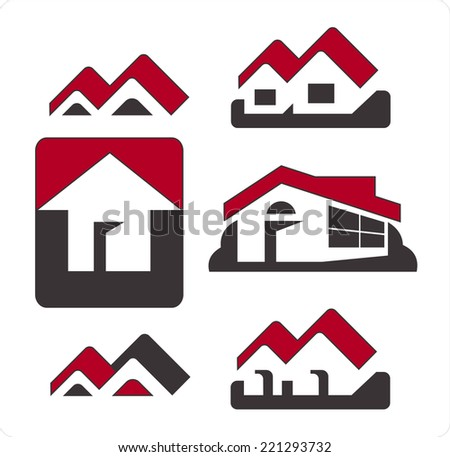 Illustration of signs house