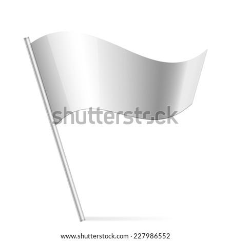 Illustration of silver flag - stock photo