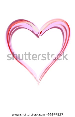 Illustration of simple sketch heart, ideal for valentines card or related themes. - stock photo