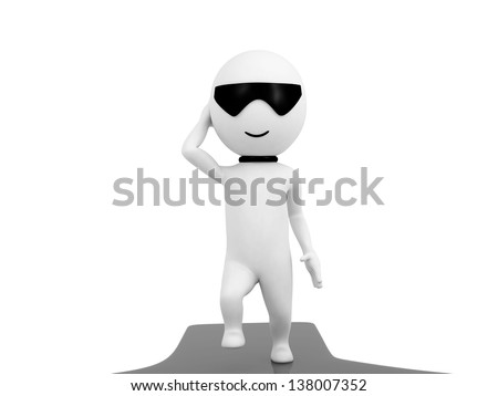 illustration of small people in white background / make your choice / choice