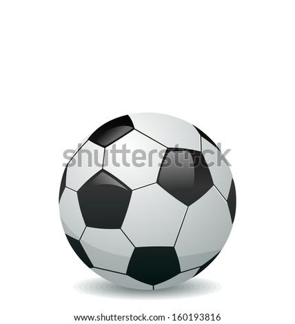 Illustration of soccer ball isolated on white background - raster - stock photo