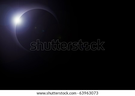 Illustration of solar eclipse - stock photo