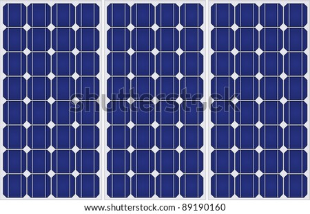 Illustration of solar panels pattern in a uniform formation. - stock photo