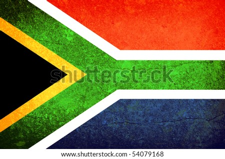 Illustration of south africa flag. Vintage effect - stock photo