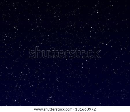 Illustration of starry night sky - stock photo