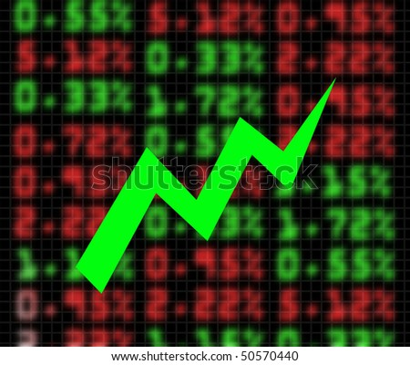illustration of stock market exchange going up